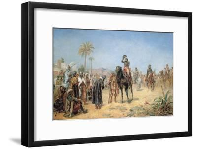 Napoleon Arriving at an Egyptian Oasis-Robert Alexander Hillingford-Framed Giclee Print