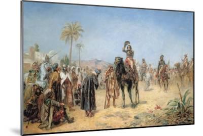 Napoleon Arriving at an Egyptian Oasis-Robert Alexander Hillingford-Mounted Giclee Print