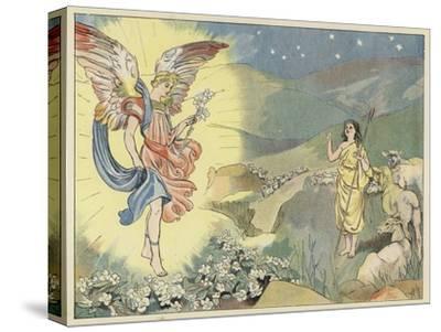 The Christmas Rose-John Shenton Eland-Stretched Canvas Print
