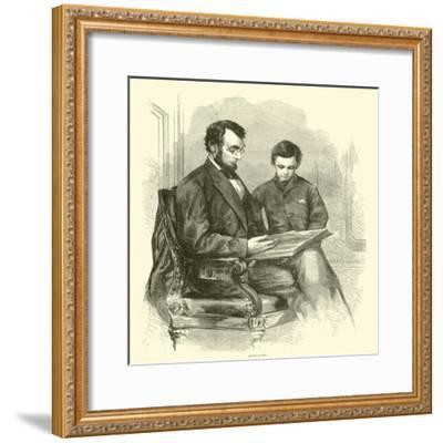 Lincoln at Home, April 1865--Framed Giclee Print