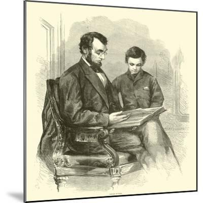 Lincoln at Home, April 1865--Mounted Giclee Print