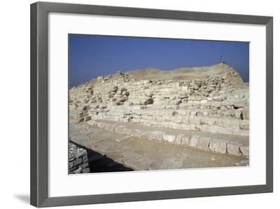 View of Saqqara Necropolis, Memphis--Framed Photographic Print