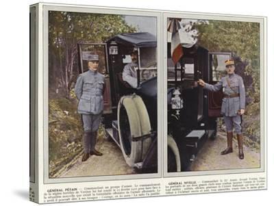 General Petain, General Nivelle-Jules Gervais-Courtellemont-Stretched Canvas Print