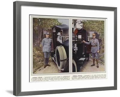 General Petain, General Nivelle-Jules Gervais-Courtellemont-Framed Photographic Print