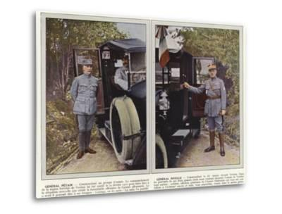 General Petain, General Nivelle-Jules Gervais-Courtellemont-Metal Print