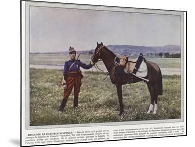 Brigadier De Chasseurs D'Afrique-Jules Gervais-Courtellemont-Mounted Photographic Print