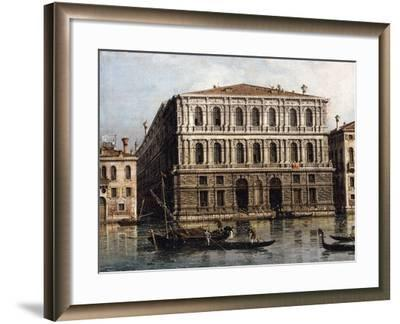 The Palazzo Pesaro from the Grand Canal, Venice--Framed Giclee Print