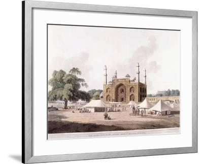 Gate of the Tomb of the Emperor Akbar-Thomas Daniell-Framed Giclee Print
