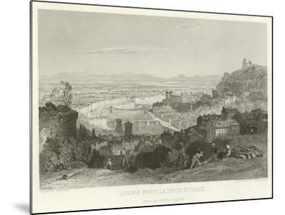 Lyons from La Croix Rousse-Alphonse Marie de Neuville-Mounted Giclee Print