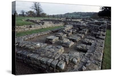 Ruins of Chesters Roman Fort, Hadrian's Wall--Stretched Canvas Print