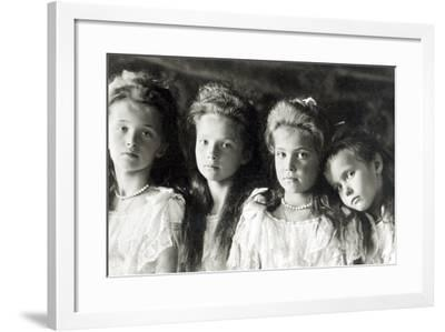 The Daughters of Tzar Nicholas II--Framed Photographic Print