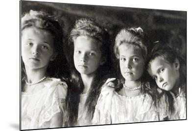 The Daughters of Tzar Nicholas II--Mounted Photographic Print