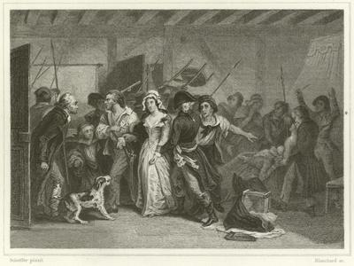 The Death of Marat-Ary Scheffer-Framed Giclee Print