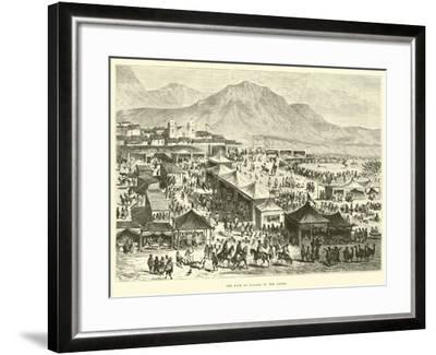 The Fair of Pucara in the Andes-?douard Riou-Framed Giclee Print