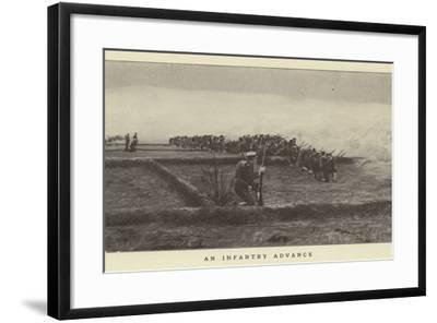 An Infantry Advance--Framed Photographic Print