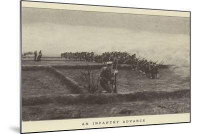 An Infantry Advance--Mounted Photographic Print