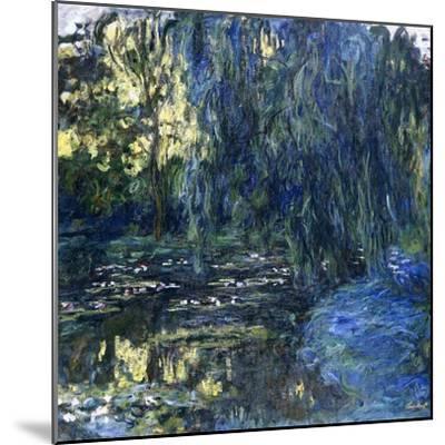 View of the Lilypond with Willow, C.1917-1919-Claude Monet-Mounted Giclee Print