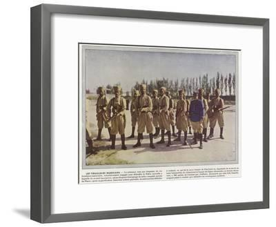 Les Tirailleurs Marocains-Jules Gervais-Courtellemont-Framed Photographic Print