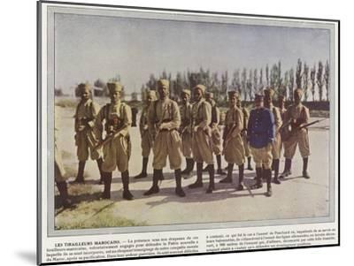 Les Tirailleurs Marocains-Jules Gervais-Courtellemont-Mounted Photographic Print