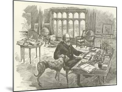 Tennyson in His Library--Mounted Giclee Print