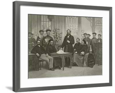 Chinese Embassy to Foreign Powers, 1868-Alonzo Chappel-Framed Giclee Print