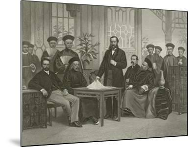 Chinese Embassy to Foreign Powers, 1868-Alonzo Chappel-Mounted Giclee Print