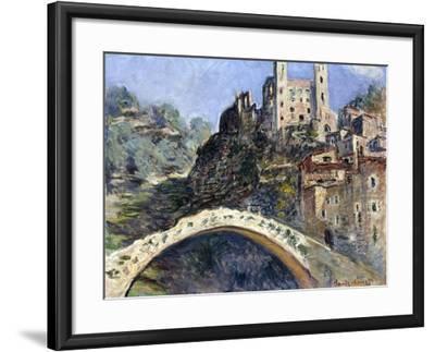 Dolceacqua, 1884-Claude Monet-Framed Giclee Print
