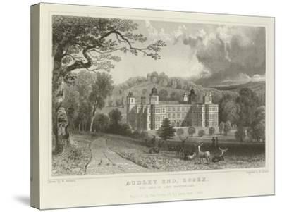 Audley End, Essex, the Seat of Lord Braybrooke-William Henry Bartlett-Stretched Canvas Print