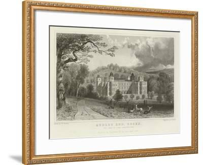 Audley End, Essex, the Seat of Lord Braybrooke-William Henry Bartlett-Framed Giclee Print
