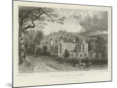Audley End, Essex, the Seat of Lord Braybrooke-William Henry Bartlett-Mounted Giclee Print