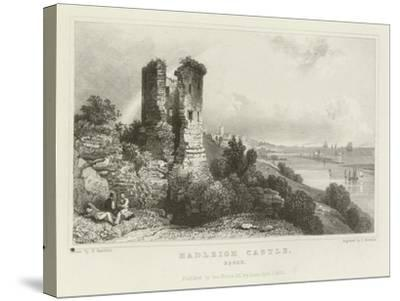 Hadleigh Castle, Essex-William Henry Bartlett-Stretched Canvas Print