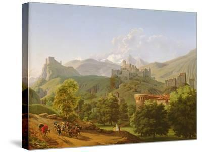View of the Town of Sion in Valais, 1810-Lancelot Theodore Turpin de Crisse-Stretched Canvas Print