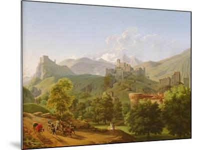 View of the Town of Sion in Valais, 1810-Lancelot Theodore Turpin de Crisse-Mounted Giclee Print