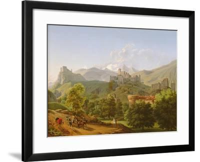 View of the Town of Sion in Valais, 1810-Lancelot Theodore Turpin de Crisse-Framed Giclee Print