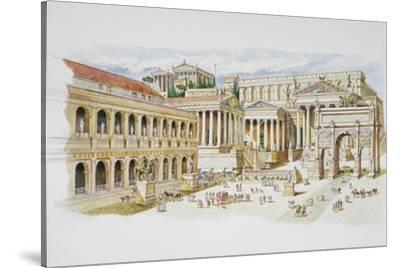 Roman Forum-Italian School-Stretched Canvas Print