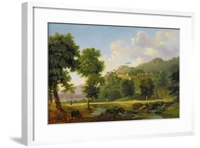 Landscape with a Rider, C.1808-10-Jean Victor Bertin-Framed Giclee Print