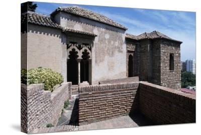 View of Alcazaba of Malaga--Stretched Canvas Print