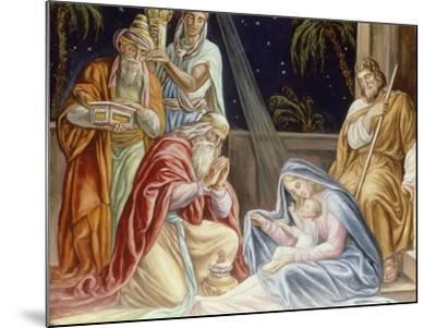 Adoration of the Wise Men-Julius Schnorr von Carolsfeld-Mounted Giclee Print