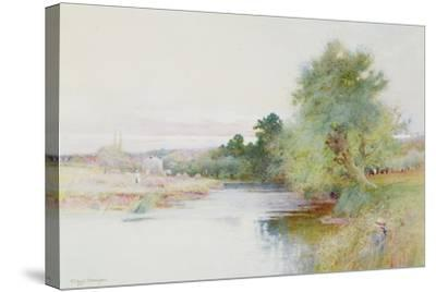 Haymaking Near Marlow-Arthur Claude Strachan-Stretched Canvas Print
