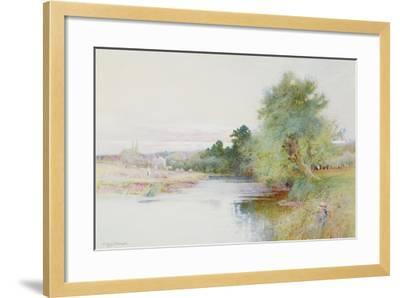 Haymaking Near Marlow-Arthur Claude Strachan-Framed Giclee Print