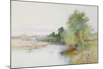 Haymaking Near Marlow-Arthur Claude Strachan-Mounted Giclee Print
