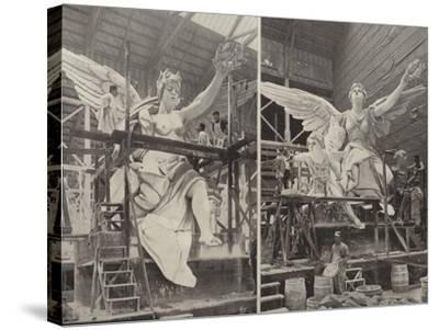 Making the Angels--Stretched Canvas Print