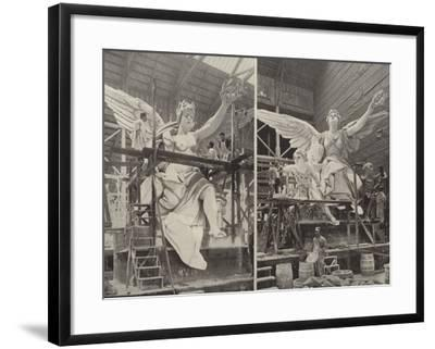 Making the Angels--Framed Photographic Print
