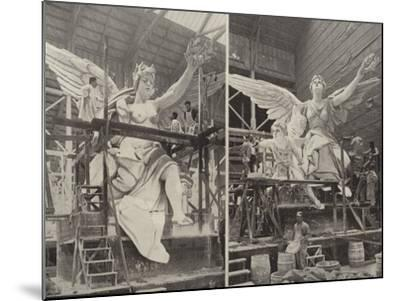 Making the Angels--Mounted Photographic Print