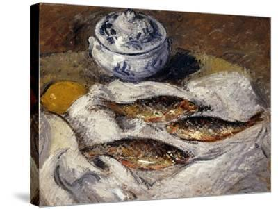 Herring and Tureen; Harengs Et Soupiere, C.1925-Gustave Loiseau-Stretched Canvas Print