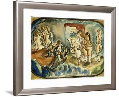 The Dithering Client, 1916-Jules Pascin-Framed Giclee Print