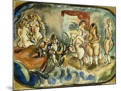 The Dithering Client, 1916-Jules Pascin-Mounted Giclee Print