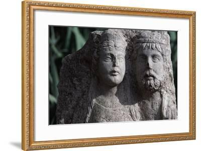 Funerary Stele from Roman City of Timgad--Framed Photographic Print