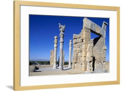 Gate of All Nations or of Xerxes, Persepolis--Framed Photographic Print