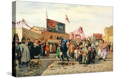 Stalls for Easter Week in Tula, 1868-Andrei Andreevich Popov-Stretched Canvas Print